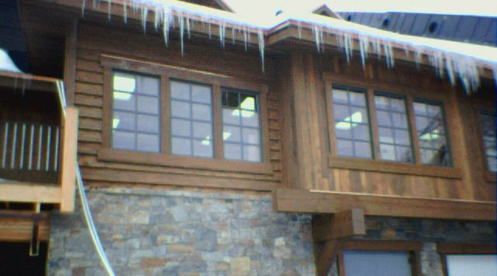 Bevel wavy edge hewn Cedar siding